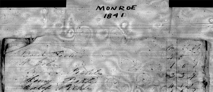 1841 Census of Monroe County Mississippi